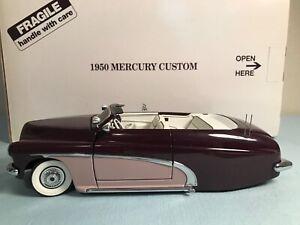 Danbury Mint 1950 Mercury Custom, Convertible Lowrider 1:24 Die Cast Model