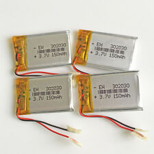 4 pcs 3.7V 150mAh 302030 Lipo Polymer Battery For Mp3 Bluetooth headset headpho