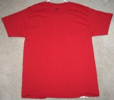 Champion Red Cotton Large Tee T-Shirt Men's Man Crewneck Solid Short Sleeve Top