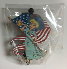 Disney Tinker Bell Suffragettes with US Flag Pin LE 250