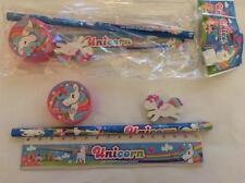 Unicorn Pencil, Ruler, Eraser, Sharpener Set  (set 2)