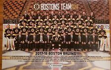 Boston Bruins 2017~2018 Team Poster