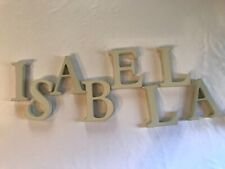 Pottery Barn Kids Standing Mini Letters - ISABELLA 3 3/4""