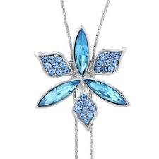 DF101 Made With Swarovski Crystal The Deshawn Long Flower Lariat Necklace  $145