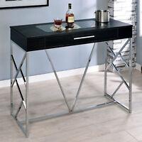 Ballatorey Wine Storage Bar Table Contemporary Style/Chrome