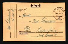 Italy 1944 German Feldpost Cover / Florence  - Z17625