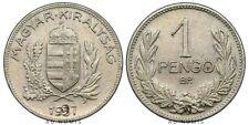 1 pengo 1937 Hongrie - Argent