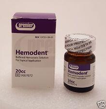 Dental Premier Hemodent 20 cc Buffered Hemostatic Solution 4 Topical Application