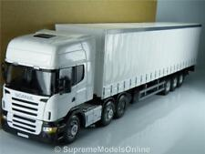 SCANIA LORRY & TRAILER SET WHITE IDEAL FOR CODE 3 1:50 MODEL TRUCK VERSION R01