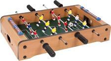 Mini SOCCER FOOSBALL Tabletop Game w/ 2 balls wood grain finish score board NEW