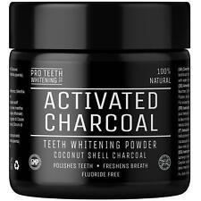 Active charcoal natural teeth whitening powder UK made 100% organic tooth-paste