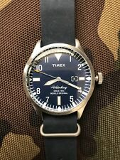 Timex Waterbury Blue Dial Brass Blue Leather Quartz Men's Watch TW2P64500