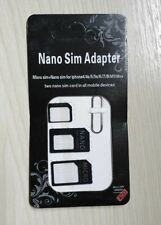 Universal Nano, Micro, Mini Sim Card Adapter Converter to Standard Sim in BLACK