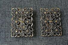 Shoe Clip Set Antique Gold Finish