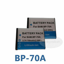 2X battery For Samsung BP70A SL50 ES65 ES70 PL80 PL100 BP 70A digital camera