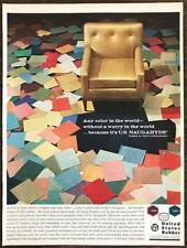 1963 United States Rubber Ad Any Color in the World Naugahyde Vinyl Upholstery