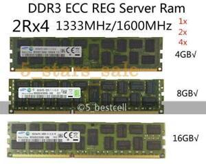 Samsung 16GB 1333MHz 8GB ECC DDR3 REG lot Server 4GB Registered 1600MHz Memory