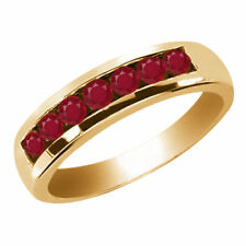 Ruby Yellow Gold 14k Rings for Men