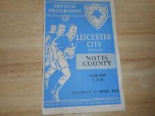 LEICESTER CITY  v  NOTTS COUNTY  1953/4  ~ APRIL 17 *LEICESTER CHAMPIONS SEASON*