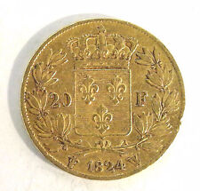 20 Francs Or LOUIS XVIII - 1824 W LILLE