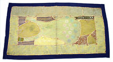 Old Colorful Handmade Indian Vintage Patchwork Tapestry Wall Hanging. i17-48
