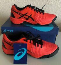 New Asics Mans Red Black Gel Resolution 7 Mans Athletic Tennis Training Size 6.5