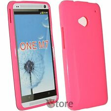 Cover Custodia Per HTC One M7 Silicone Gel TPU Fucsia