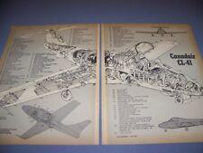 VINTAGE...CANADAIR CL-41..CUTAWAY/LEGEND...RARE! (337)