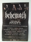 BEHEMOTH Australia New Zealand 2013 Tour Poster Evangelion Satanist ***NEW but..