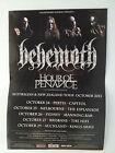 BEHEMOTH Australia New Zealand 2013 Tour Poster Evangelion Satanist ***NEW but..