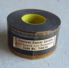 RARE Vintage Movie Theater 35mm Trailer Film - American Cancer Society