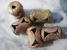 5 Perlen Messing 18 mm Sanduhr Ghana Ashanti Wachsausschmelzverfahren lost wax