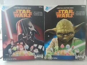 """GM STAR WARS """"YODA & DARTH VADER"""" Limited Edition Cereal Box (Collectible ONLY)"""