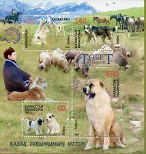 Kazakhstan 2016 MNH Tobet Kazakh Mountain Dogs 4v MS Sheep Horses Animals Stamps
