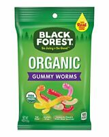 Black Forest Organic Gummy Worms Candy, 4 Ounce