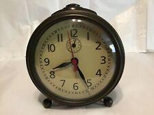 Pottery Barn bronze finish alarm clock, EUC