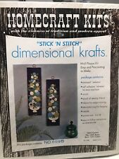 NEW Homecraft Stick N Stitch Wall Plaque Kit Retro Vintage Purple/Green Sealed
