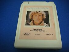 Anne Murray,8 Track Tape,Tested,Let's Keep It That Way,Walk Right Back,Hold Me