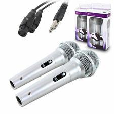 2 X Black Dm11 Dynamic Microphone Karaoke PA Recording DJ Mike With 3m Cable