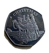 Gibraltar 2001 Christmas 50p Coin - Three Wise Men