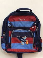 Pottery Barn Kids Small Fairfax Blue Red Striped Backpack With Name BRYCE New