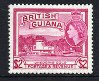 British Guiana 2 Dollar c1954-63  Lightly Mounted Mint Stamp (2602)