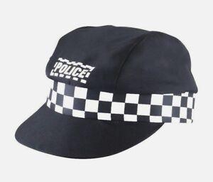Ladies Mens Police Cap Adult Unisex Party Black Cop Hat Fancy Dress Accessory