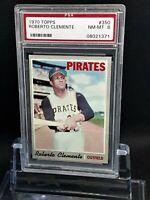 1970 Topps #350 Roberto Clemente - HOF - Pirates - PSA 8 - NM - 08021371 - SCA