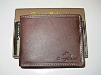 Tommy Bahama Mens Aruba Passport I.D. Holder Leather Wallet Brown Free Ship NIB