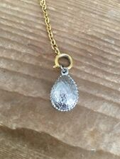 Joan Rivers Egg Charm Necklace / Bracelet Extender EUC SILVER EGG