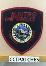 NITRO, WEST VIRGINIA POLICE SHOULDER PATCH WV