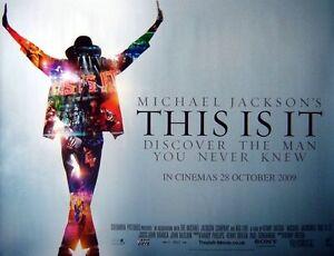 THIS IS IT 2009 Michael Jackson  Original UK Cinema quad movie poster