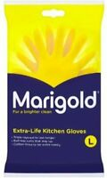 Marigold Rubber Gloves Classic Yellow Latex Rubber Lined small Medium Large