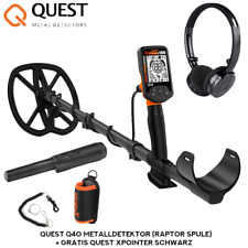 Quest Q40 Metalldetektor (Raptor Spule) + Gratis Quest XPointer Schwarz